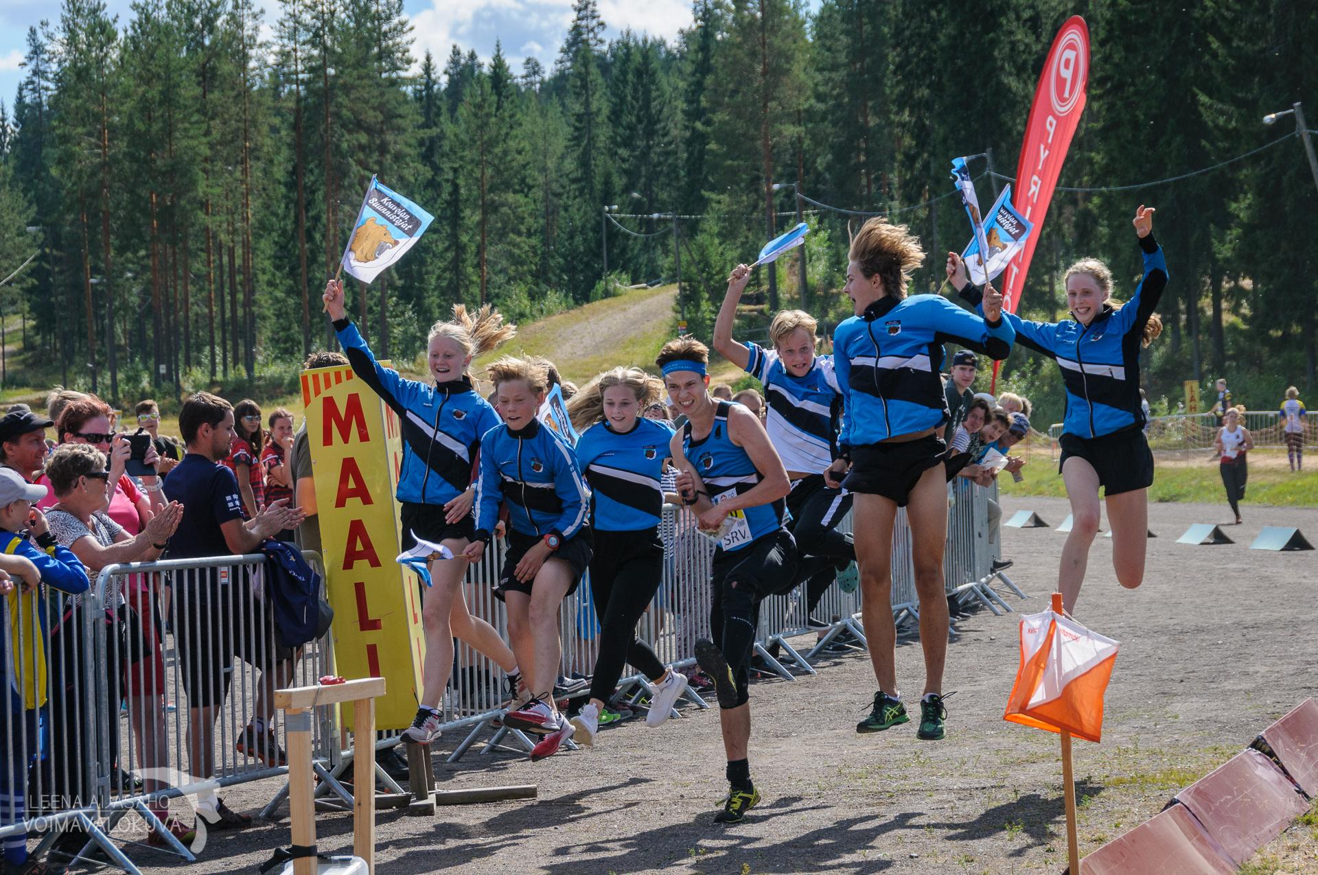 Nuorten Jukolan 2018 voitti Kouvolan suunnistajat
